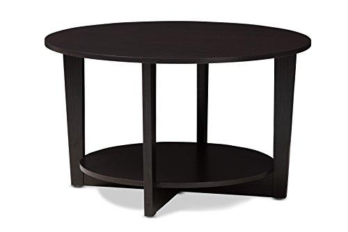 Baxton Studio 146-424-A8276-AMZ Alzenau Coffee Table, Wenge Dark Brown (Wenge Wood Coffee Table)