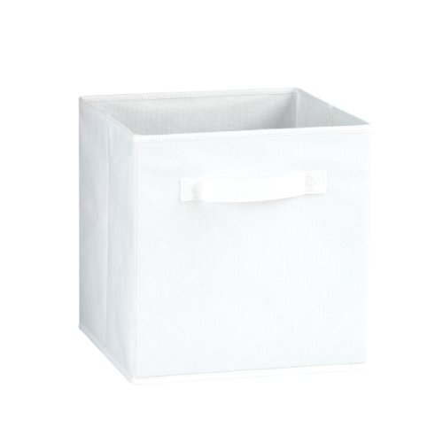 Fabric Storage Bins, White (3 Packs) by Simply Built