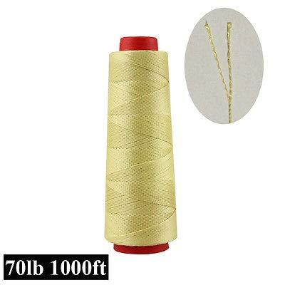 FidgetGear Heavy Duty 1000ft Test 70-200lb 100% Kevlar Sewing Thread Line Heat Resistant 70lbs -