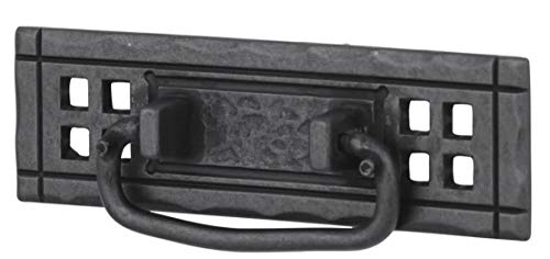 Flat Black Mission Drawer Bail Pull Handle Centers: 4-1/4