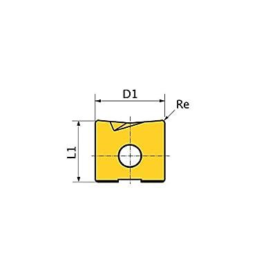 Coated Mitsubishi Materials MBF0500021 APL05 MBF Series Carbide Milling Insert Class F Grade APL05 Rhombic 86/° 0.031 Corner Radius Pack of 10
