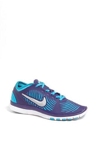 Nike Women's Nike Free Balanza Training Running Shoes-Crt Purple/Mtllc Slvr/Gmm Bl-8.5