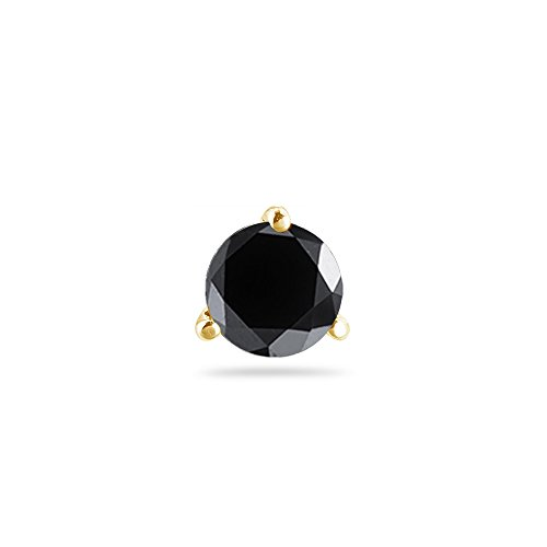 1/9 (0.10-0.13) Cts of 2.50-3.00 mm AA Round Black Diamond Mens Stud (Aa Diamond Mens Ring)
