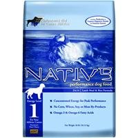 Native Performance Dog Food Level 1 24:14 Lamb Meal and Rice Formula, 40-Pound For Sale