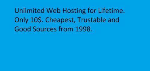 Unlimited Web Hosting (With C-Panel)