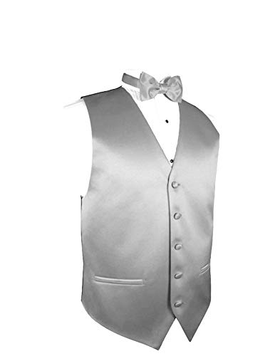 Exclusive Distributor Men's Vest & Bow Tie Set- Silver M