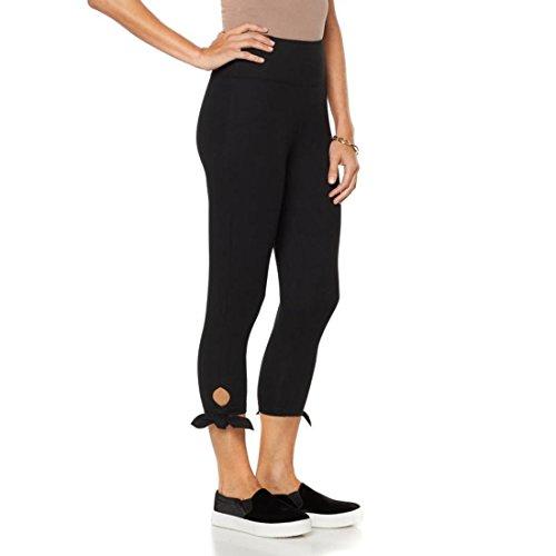 DG2 Diane Gilman Side-Tie Capri Cropped Elastic Legging Black 2X New 539-598 (Tie Capri Cropped)
