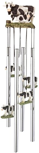 - StealStreet SS-G-41928, Round Top Cow Hanging Garden Porch Decoration Decor Musical Wind Chime