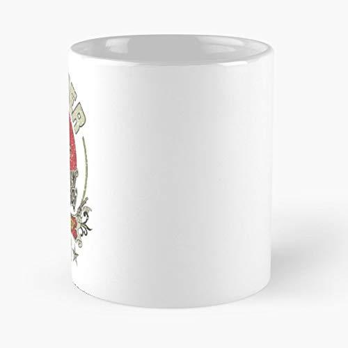 Gas Station Cowboy Porcelain Sign Texas - Best Gift Ceramic Coffee Mugs 11 Oz