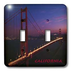 3dRose lsp_33161_2 Golden Gate Bridge Double Toggle Switch