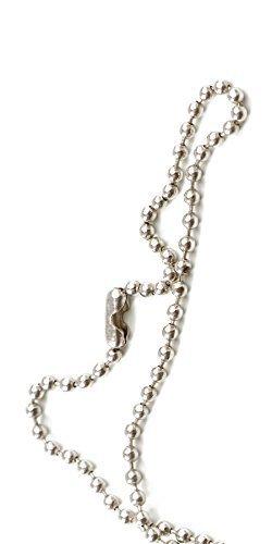 USI Nickel-Plated Steel Beaded Neck Chain - Pkg of 100 by USI DIRECT (Beaded Steel Neck Chain)