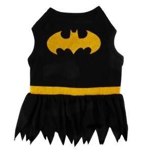 DC Comics Batman Batgirl Dog Dress-Up Halloween Costume Size  Medium