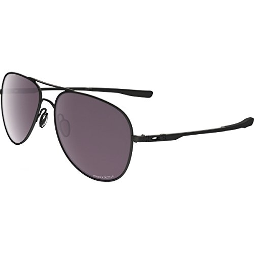 Oakley Elmont Polarized Iridium Round Sunglasses, Matte Black w/Prizm Daily Polarized, 60 - Sunglasses W/l