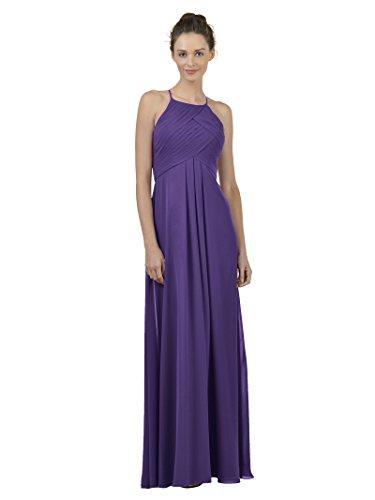 (Alicepub Long Chiffon Bridesmaid Dress Maxi Evening Gown A Line Plus Party Dress, Regency, US12)