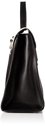 Morgan - 172-2cebag.a, Bolsos bandolera Mujer, Noir (Noir/ Blanc), 10x27x37 cm (W x H L)
