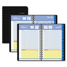At-A-Glance,Appointment Books,Dated Goods,Quick Notes,Daily Monthly Self Management System,QuickNotes Desk Planning 1PPD Tabbed Ruled Address Pocket ()