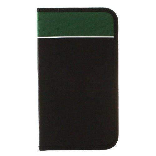 - RoyalCraft TM CD Wallet, 96 Capacity CD Holder Case in Black/Green, Nylon.