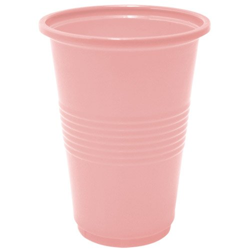 Nicole Home Collection 14 Count Plastic Cup, 16-Ounce, Pink