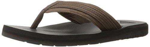 Quiksilver Men's Coastal Oasis II Sandal, Brown/Black, 8 M U