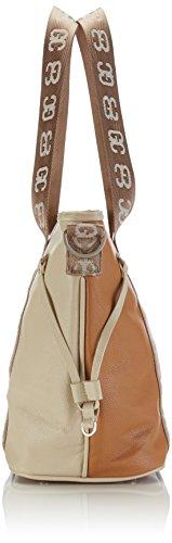 bicolor Big cognac Sintético Mehrfarbig Material Hombro sand De Bolso German tote Mujer Couture Multicolor Poodlebag qRxI4BEw