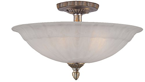 Crystorama 6205-AS Semi-Flush Candle Light Fixture in Antique Silver Finish