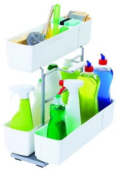 Pull Out for Under Sinks, Cleaning Agent, Gray by Hardware INC