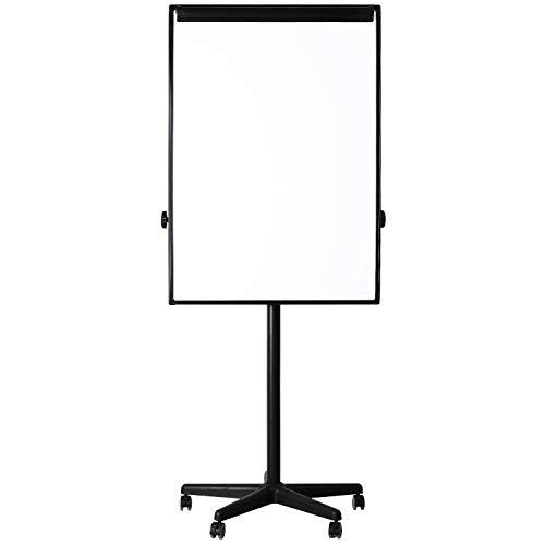 AmazonBasics Dry Erase Mobile Presentation White Board Easel, Non-Magnetic, Black