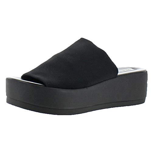 Steve Madden Women's Slinky Platform Sandal, Black, 7 M US -