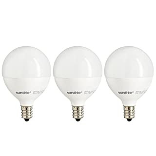 Sunlite G16.5/LED/5W/D/E12/FR/ES/27K/3PK Dimmable Energy Star 2700K Candelabra Base Warm White LED Globe G16.5 5W Light Bulb (3 Pack), Frosted