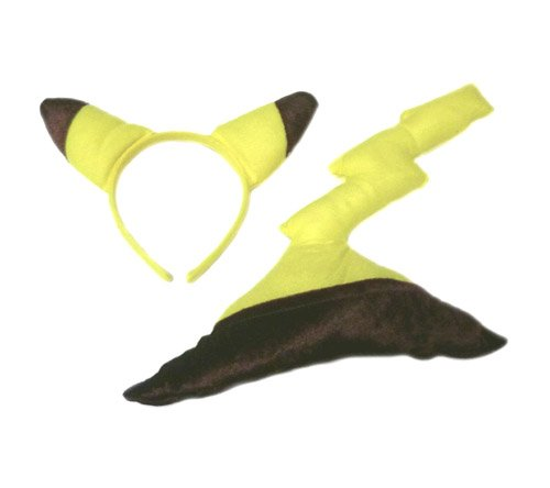 [Pokemon: Pikachu Ears and Tail Costume Set - Youth] (Pikachu Ears And Tail Costume)