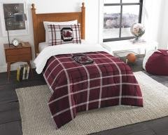 (South Carolina NCAA Twin Bed Cozy and Soft Embroidered Comforter & 1 Sham Set)