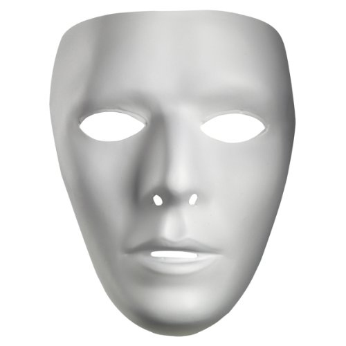 Blank Male Adult Mask, White, Standard]()