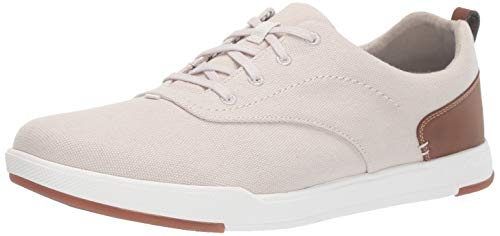 CLARKS Men's Step Isle Crew Sneaker Off White Canvas 130 M US