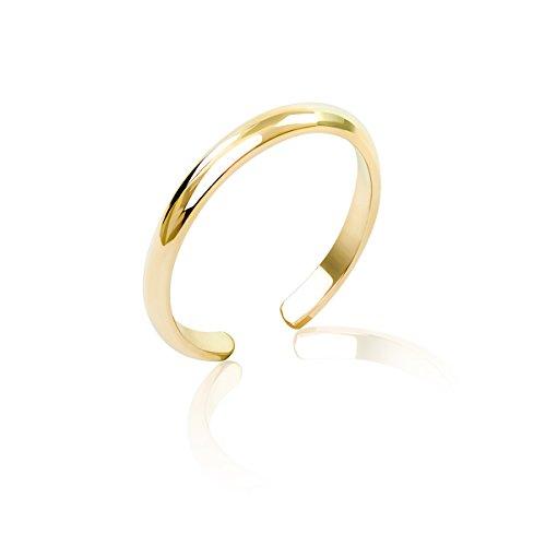 Honolulu Jewelry Company 14K Yellow Gold Band Toe Ring (2mm) ()