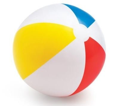 Beach ball in ocean Clipart Image Unavailable Amazoncom Amazoncom Intex Ocean Beach Ball rainbow Toys Games