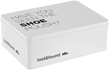 Caja limpieza zapatos Metalica seen the shoe polish?: Amazon.es: Electrónica