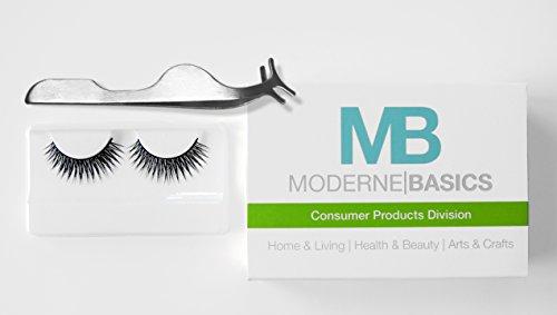 UPC 688907818999, MB Beauty Eyelash Extension Tweezer + Pair of Naturally Voluminous Faux Eyelash Extensions (Tweezer+ 1 Pair)