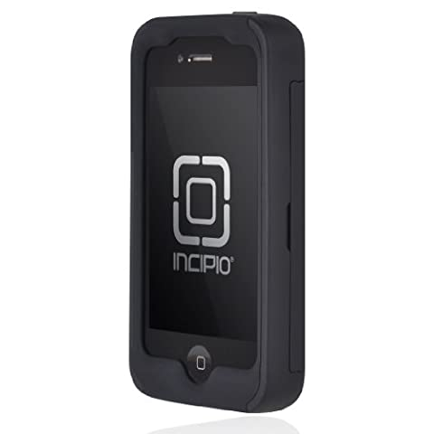 Incipio IPH-677 Stowaway Credit Card Case for iPhone 4/4S - Retail Packaging - Black (Iphone 4 Stowaway Case)