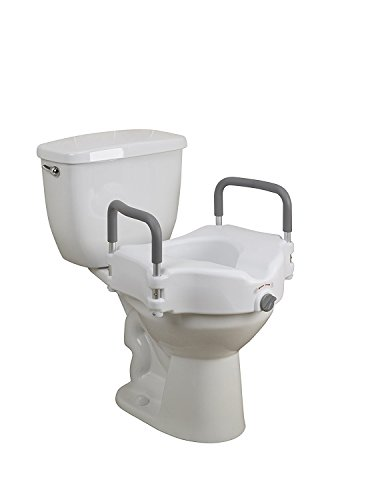 Deluxe Portable Elevated Riser with Padded Handles, Toilet Seat Lifter for Bathroom Safety For Disabled, Elderly or Handicapped, By Tulimed by Tulimed