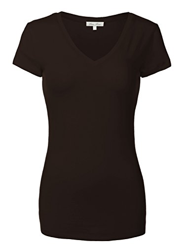 Plus Size Cotton Short Sleeve Deep T Shirt V Neck Tops (Custom Embroidered Denim Shirt)