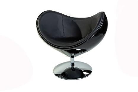 Homy - Sillón Retro de diseño VENUS, color negro: Amazon.es ...