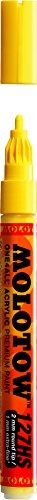 Molotow ONE4ALL Acrylic Paint Marker, 2mm, Zinc Yellow, 1 Each (127.201)