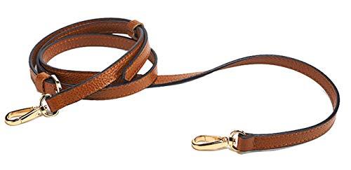 (SeptCity Top Quality Grain Leather Adjustable Shoulder Straps -1.2 CM Width (Brown))