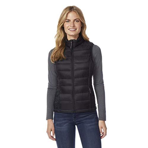Womens Vest Jacket - 32 DEGREES Womens Ultra Light Down Packable Vest, Black, Large