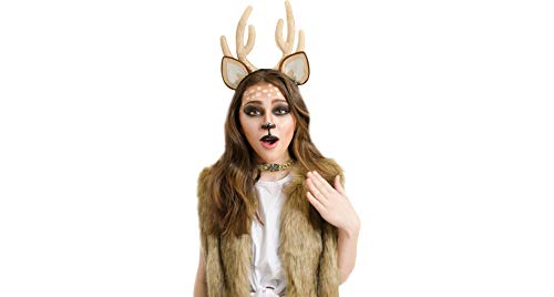 Papillion Accessories Oh Deer Halloween Costume Accessory Kit for Women, 2 Pieces, by M&J Trimmings
