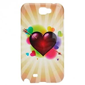 Red Heart Pattern Hard Cover Case For Samsung Galaxy Note 2 N7100