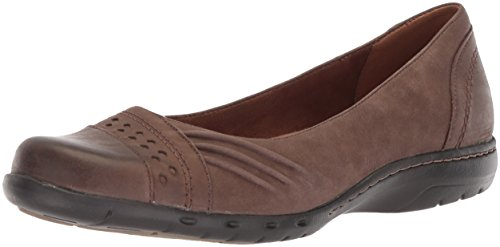 Rockport Women's Haley Skimmer Loafer Flat, Stone Leather, 8 M US -
