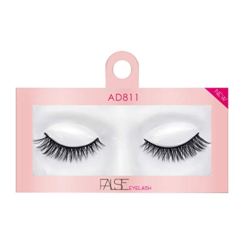 Wenini False Eyelashes, 2019 New Luxury 1 Pair 3D False Eyelashes Dramatic Lashes Bulk Extensions with Volume for Girl/Men Makeup Handmade Soft Eyelash