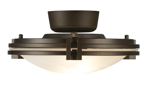 Pull Chain Oil Rubbed Bronze W/Alabaster Glass Light Kit by Universal Lighting and Decor