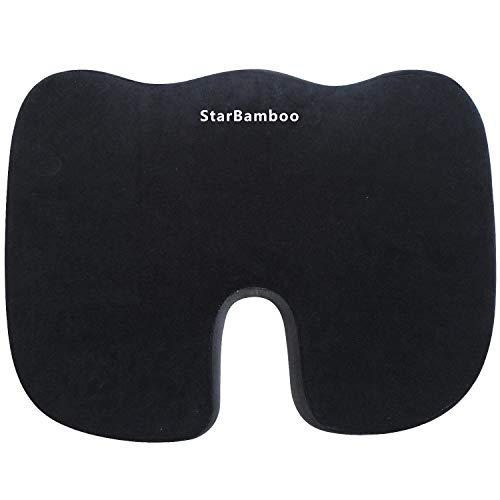 Tadge Goods Seat Donut U Cushion for Office Chair - Supports Lower Back, Tailbone, Sciatic Nerve, and Coccyx Pain - Orthopedic Memory Foam | Universal Car, Truck, Vehicle & Office Use